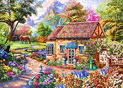 """1000 Piece Adult Puzzles, Home Sweet Landscape Style 27.6""""x 19.7"""" Jigsaw Puzzles for Adults Kids, Puzzles 1000 Piece Game Toys for Adults Family Puzzles Gift from HUADADA"""