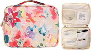 Buringer Toiletry Bag Multifunction Cosmetic Portable Wash Makeup Pouch Waterproof Travel Organizer for Women Girls Men (Flower Spring)