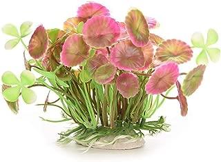 Hot Sale!DEESEE(TM)🌸🌸Aquatic Simulation Plastic Lotus Leaf Grass Pink
