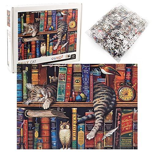 ZHENGJIANG Puzzle para Adultos, Juegos de Puzzle de 1000 Piezas, Rompecabezas de cartón, Juegos Familiares, Puzzle de Desafío Cerebral para niños - Cats of Charles Wysocki …