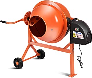 Goplus Electric Cement Concrete Mixer 1/2HP 2.2 Cubic Ft Barrow Machine for Mixing..