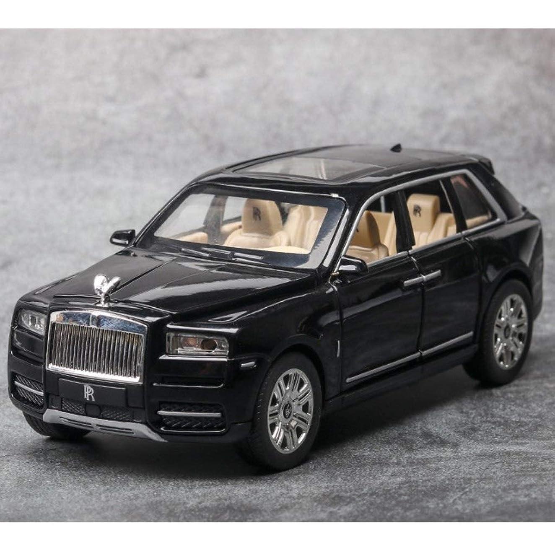 偏見公爵偽装するモデルカー ミニカーダイキャストカー 1:24ロールスロイスカリナンシミュレーション車モデルサウンド照明効果引き戻し機能オフロード車モデルギフトデコレーション (Color : Black)