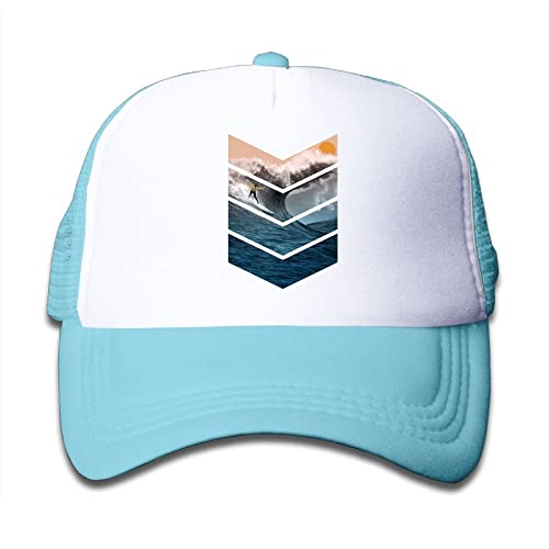 Sunrise Surfer Youth Adjustable Mesh Hats Baseball Trucker Cap for Boys and Girls
