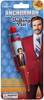 Anchorman Pen Will Ferrell Movie Gag Gift School College Speaks 3 Phrases Ron Burgundy USA American Comedy Film Character