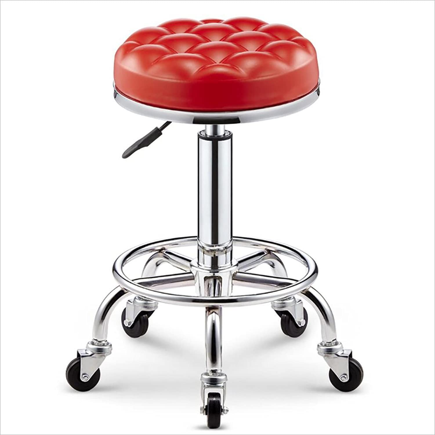 FUL-Swivel Chair Beauty Stool Barber Shop Chair Hairdressing Stool redating Lift Stool Multi color 47cm59cm (color   A-4)