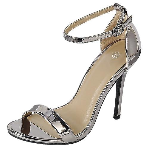 1fd60e287ff Pewter Heels: Amazon.com