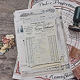 30 Hojas Vintage Antiguo Papel de Carta en inglés recibo Retro Libro Antiguo Material de Base de la página Bloc de Notas Adhesivo DIY planificador de álbumes de Recortes