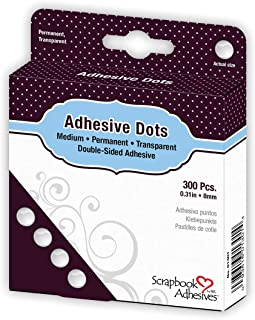3L01301 Lot de 300 Pastilles Adhésives double-face Transparent