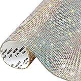 Pegatinas de Diamantes de Cristal 2mm Brillantes para Decorar Diamantes Autoadhesivas para Bricolaje Decoración de Coche Regalo Zapatos Ropa 40x24cm Cristal AB