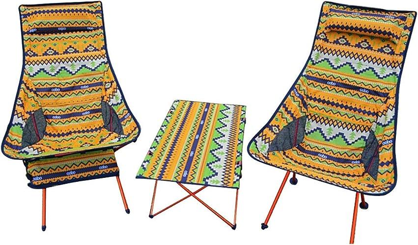 Kamiwwso Chaises Pliantes Portables en Aluminium pour Le Camping ou la pêche en extérieur (Taille   One Taille)