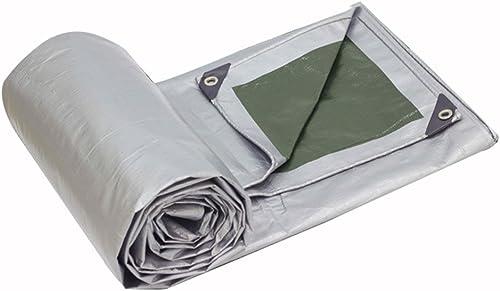 Bache Prougeection Solaire imperméable de Tissu imperméable de polyéthylène de bache, Argent + Vert d'armée, épaisseur 0.35mm, 180g   m2