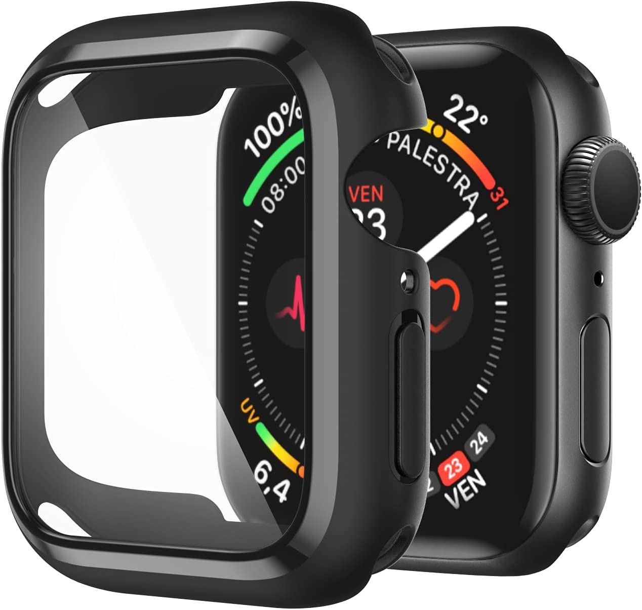 AVIDDA Compatible Apple Watch Case 40mm Houston Gifts Mall Built-in Tempered Glass