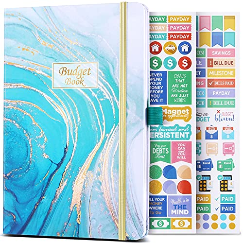 """Budget Planner - 12 Monthly Financial Organizer, Expense Tracker, Undated Finance Planner, 6"""" x 8.2"""", Monthly Budget Book, Account Book, Stickers, Contribute to Reasonable Allocation of Funds"""