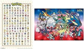 Trends International Wall Poster Pokemon Kanto Grid & Mega Evolutions Bundle, 22.375