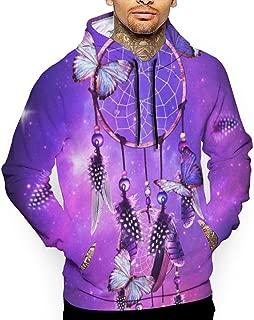 Girly Purple Dream Catcher Hoodies Mens Unisex 3D Printing Hooded Casual Long Shirts Top Sweatshirts