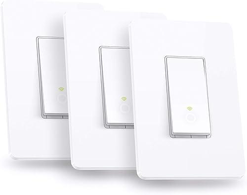 Kasa Smart Light Switch HS200P3, Single Pole, Needs Neutral Wire, 2.4GHz Wi-Fi Light Switch Works with Alexa and Goog...