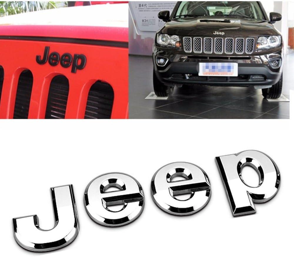 Hanway Jeep frontal 3d pegatina emblema para el capó para palabras Jeep cabeza capucha Logo adhesivo Wrangler Grand Cherokee Liberty brújula