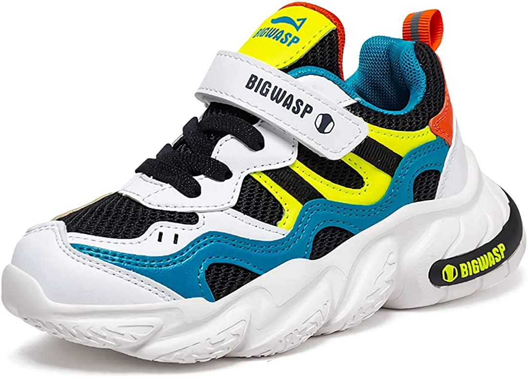 Big WASP Kids Sport Athletic Lightweight Breathable Running Tennis Shoes for Boys Girls