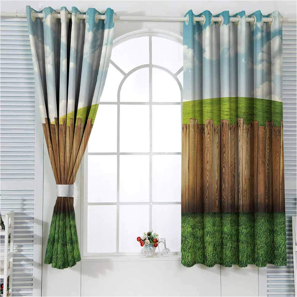 2021 Farmland Noise Reducing Direct store Window Drapes Wooden for Living Gar Room