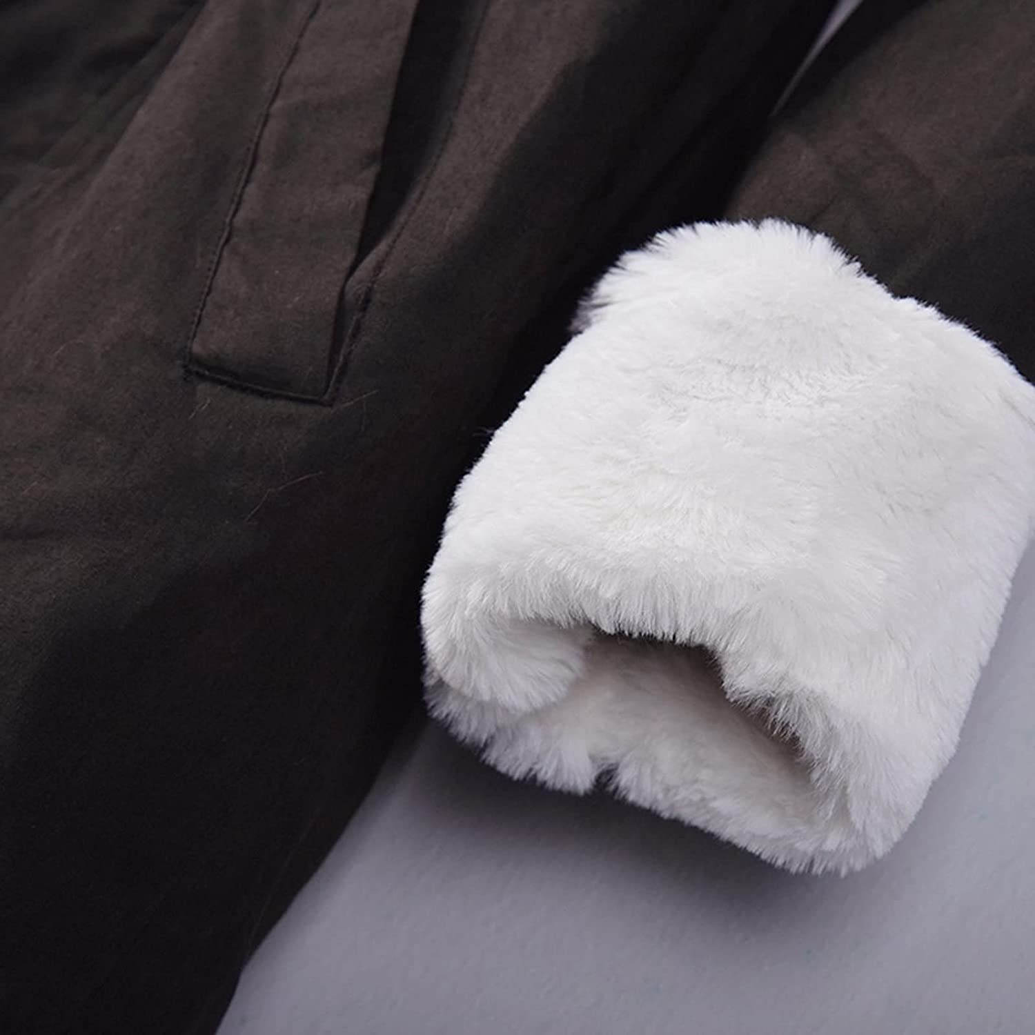 Women Down Coats Hooded Artificial Furry Jacket Faux Fur Outwear Mid-Long Casual Cotton Clothes