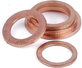 WHHHuan 20pcs / emballez la laveuse en cuivre Solide Joint Sumder Bouchon de Joint d'huile de Joint d'huile 10 * 14 * 1mm ...