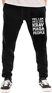 One of Krav MAGA People Men's Casual Joggers Pants Trousers Sweatpants with Drawstring