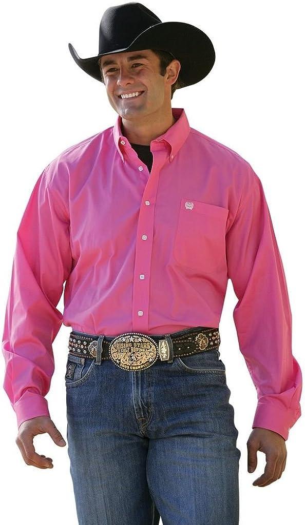 Cinch Men's Solid Button-Down Long Sleeve Western Shirt - Mtw1103320 Pnk