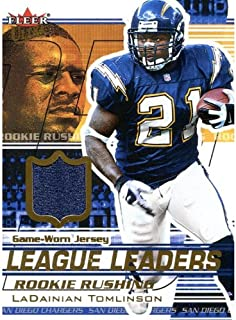 LaDainian Tomlinson Unsigned 2002 Fleer Jersey Card