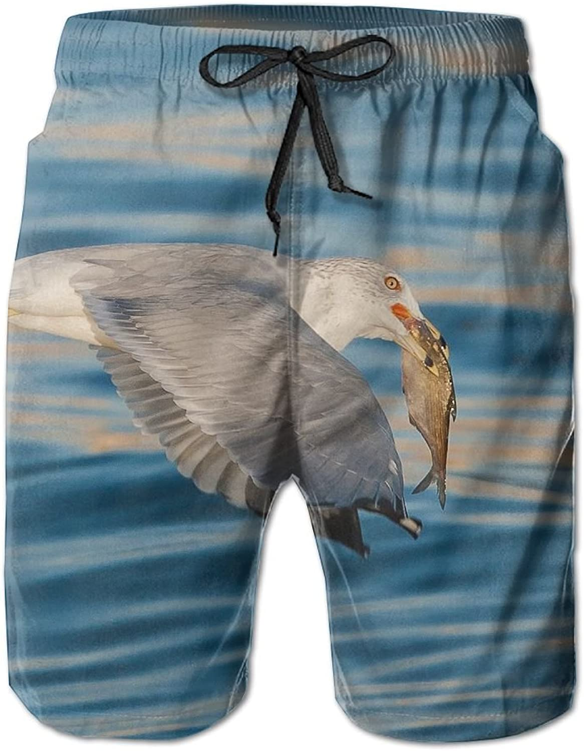49dfd9503f188 Tydo Quick Quick Quick Dry Beach Shorts Animals Seagull Painting Swim  Trunks Surf Board Pants With Pockets For Men 808010