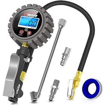 Elerose Digitale Reifen Manometer 0 200psi Reifen Reifen Luftdruckprüfer Meter Mit Lcd Display Für Auto Lkw Motorrad Auto