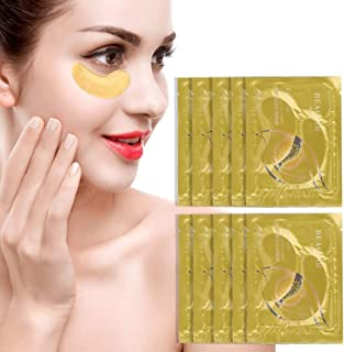 10Pcs Collagen Hydrating Eye Mask, Dark Circle Eye Bag Removal Eye Care Mask, Sheet Type Eye Pads to Moisturize and Hydrate, Anti Aging Wrinkles lsmaa