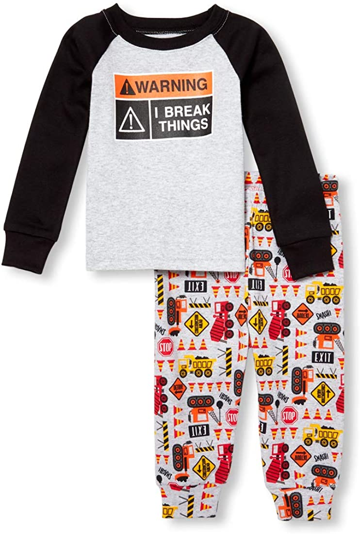 The Children's Place Baby-Boys Rocketship 2 Piece Pajamas Set