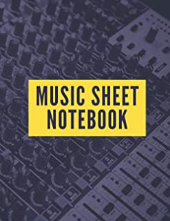 """Music Sheet Notebook: Blank Manuscript Sheets, Songwriting Journal 