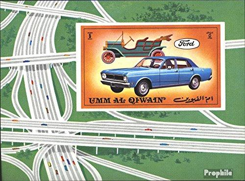 Prophila Collection UMM al Qaiwain Block 52 (Completa Edizione) 1972 Automobile (Francobolli per i Collezionisti) Traffico Stradale