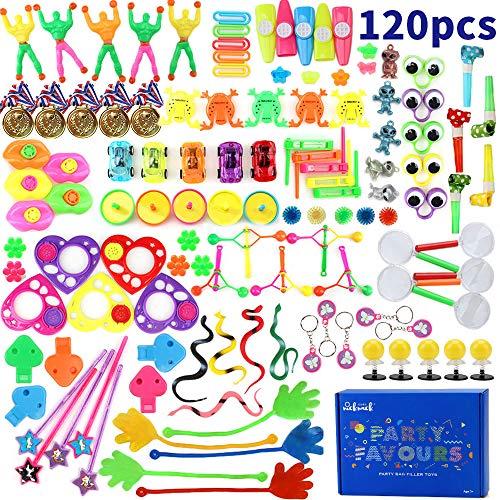 nicknack 120 Juguetes de Fiesta a Granel - Ideal Rellenar Bolsas de Fiesta, Piñatas y Muchos Otros usos