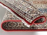CASPIAN GHOM echter klassischer Orient Felderteppich handgeknüpft in rot-beige, Größe: 170x240 cm - 4