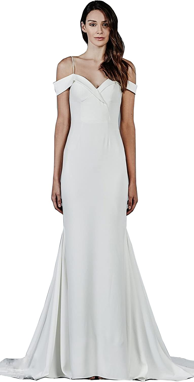 Kelaixiang Spaghetti Straps Off The Shoulder Satin Evening Prom Dress
