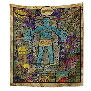 XIAOG Wall Hanging Tapestry,Witchcraft Aesthetic Vintage Tapestry Astrology The Three Starcoin Art Tapestry Throw Bedspread for Teen Bedroom Living Room Decor,150X200Cm 59X78.8In