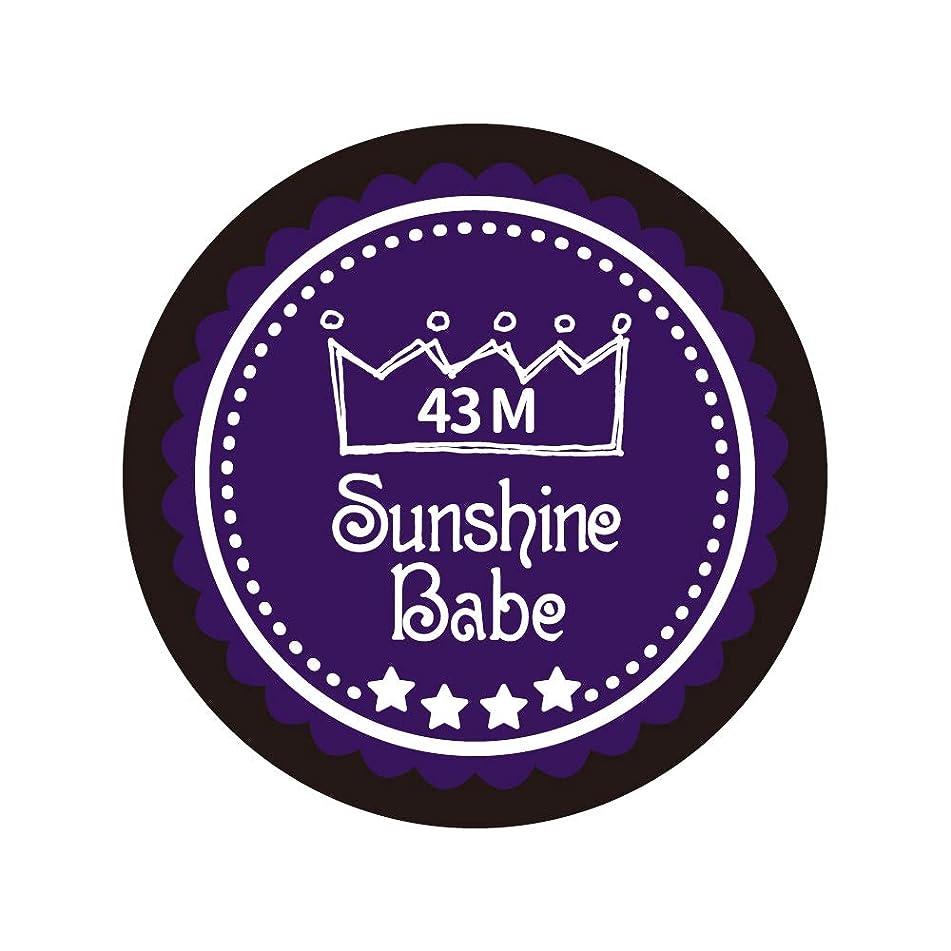 古いサンダー高さSunshine Babe カラージェル 43M オータムウルトラバイオレット 4g UV/LED対応