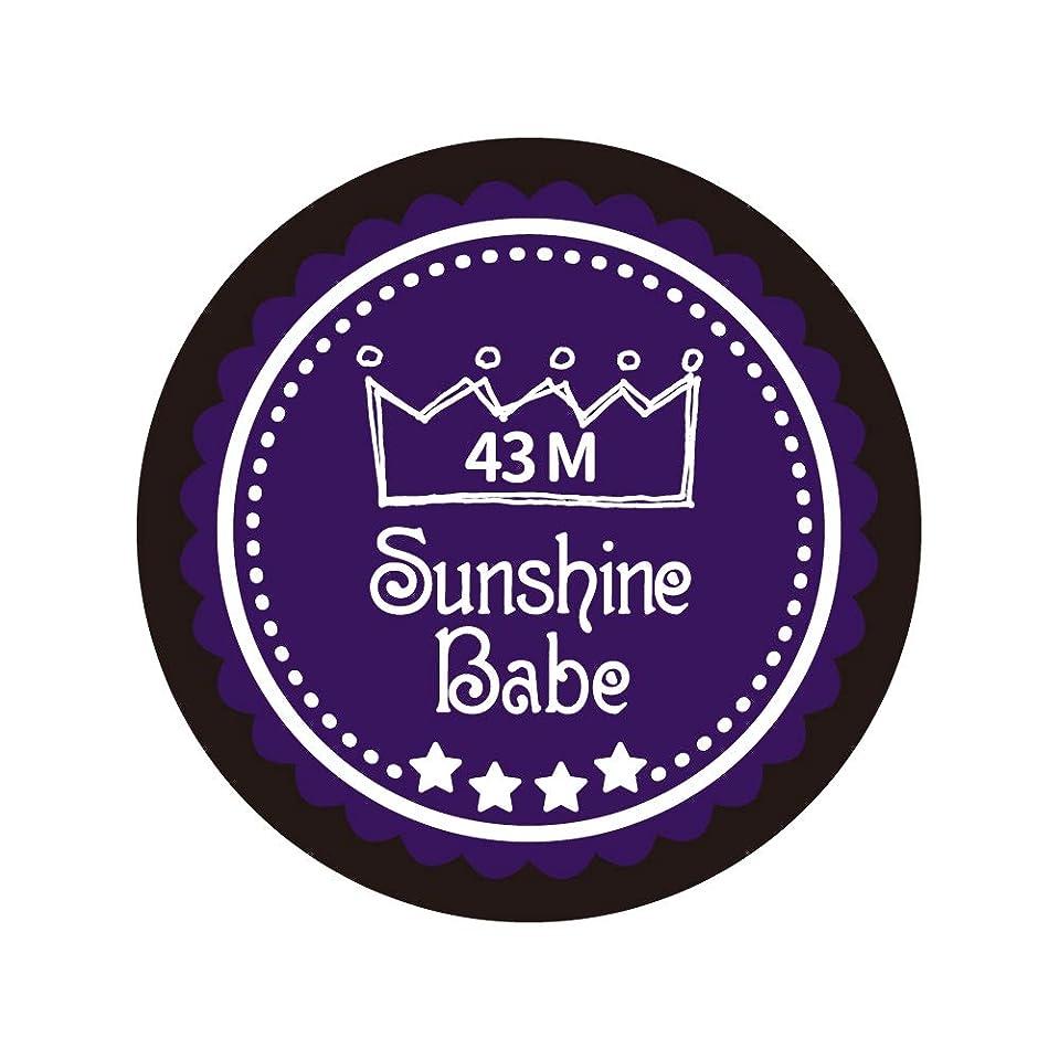 プロテスタント芽含むSunshine Babe カラージェル 43M オータムウルトラバイオレット 2.7g UV/LED対応