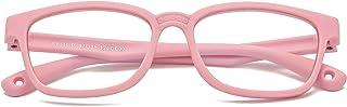 Kids Blue Light Blocking Glasses for Boys Girls Computer Gaming TV Phone Square Frame Eyeglasses 3-12