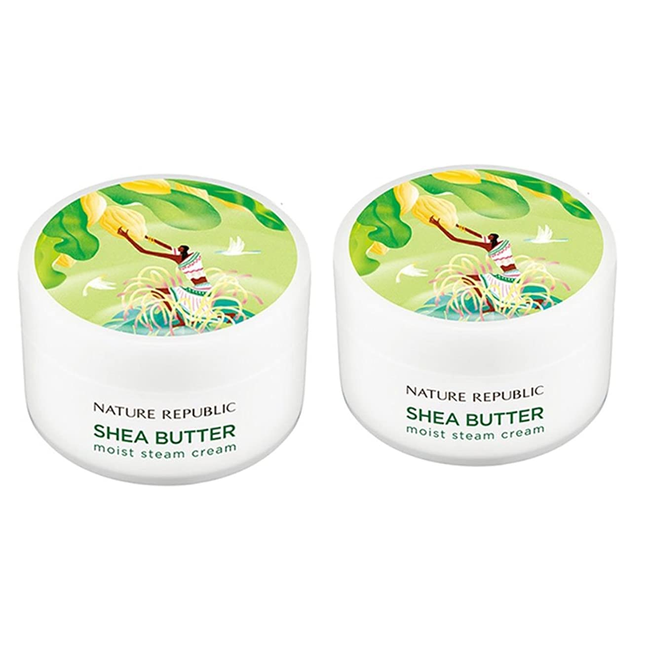 静脈修正する自我ネイチャーリパブリック(NATURE REPUBLIC)シェアバターモイストスチームクリーム100mlx 2本セット NATURE REPUBLIC Shea Butter Moist Steam Cream 100mlx 2ea Set[ 並行輸入品]