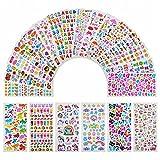 Annhao Adesivi per Bambini, 1200+ Adesivi 3D Stickers per Puffy Adesivi per Regali Gratificanti Scrapbooking Inclusi Camion, Aeroplani, Animali, Pesci, Dinosauri, Numeri, Frutta, lettera ecc(22 Fogli)