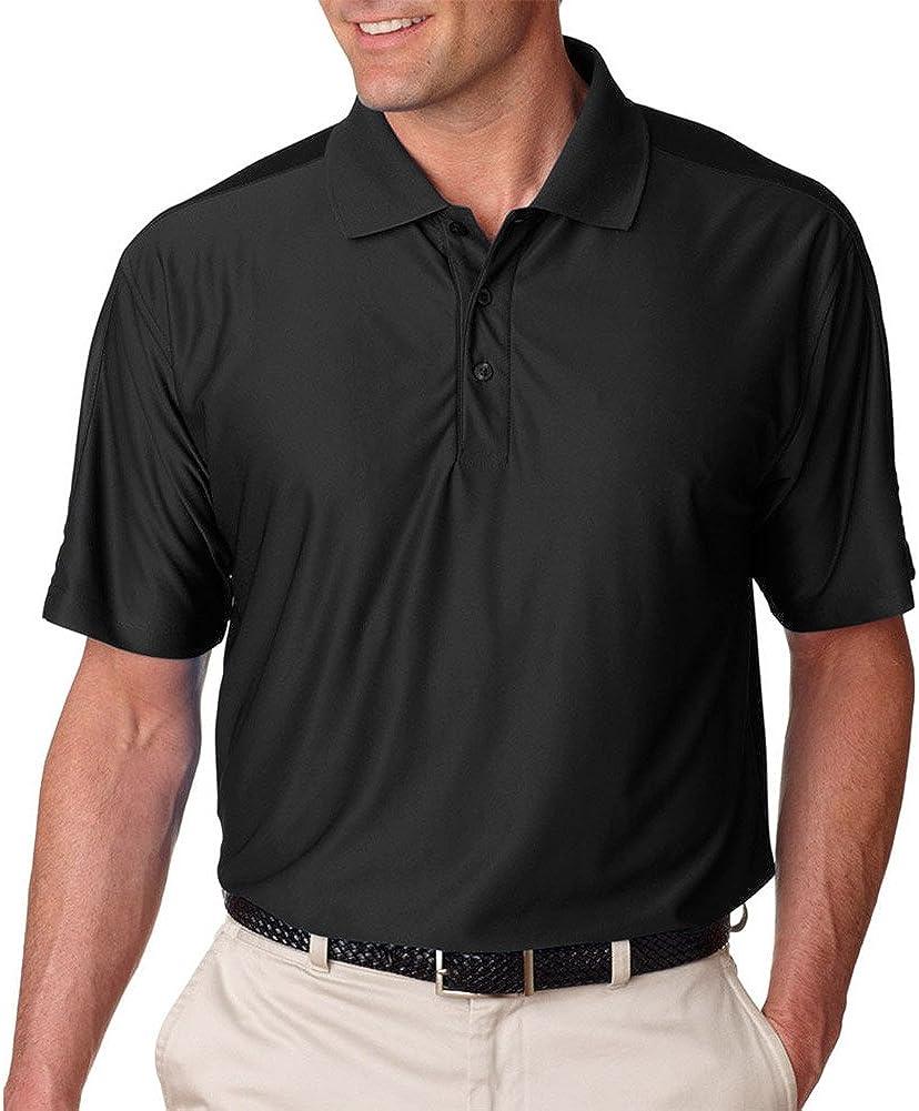 Ultraclub Men'S Cool & Dry T Elite Performance Polo Shirt, BLACK, XX-Large Tall