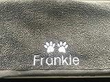 Personalisiertes Handtuch für Hunde mit Paw Prints verschiedene Farben und Größen