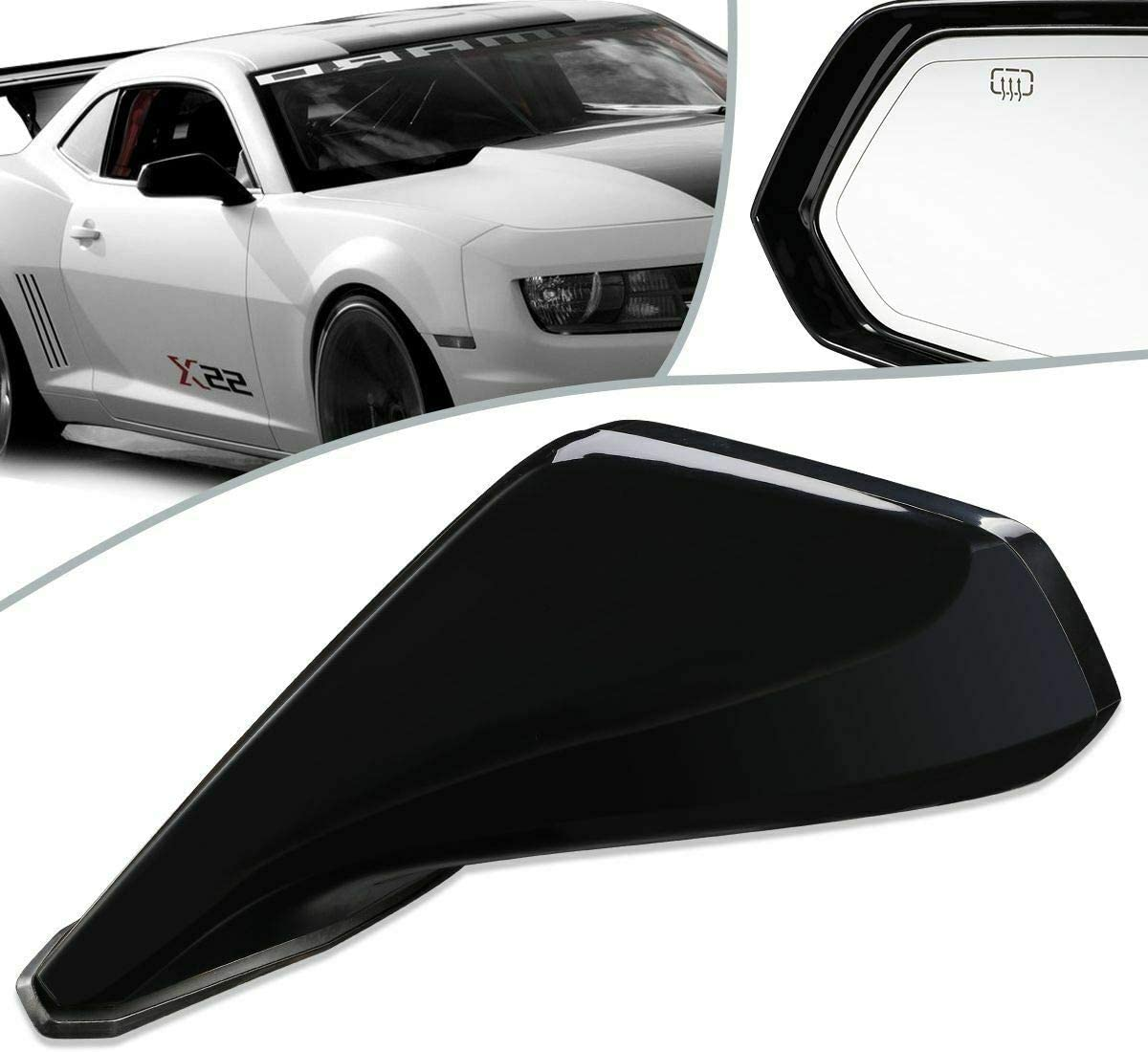 BreaAP NEW before selling ☆ Compatible with 2010-2015 half Camaro Power+Heated Si Style OE