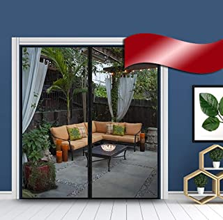 """Magnetic Screen Door with Mesh Curtain to Keep The Bugs Out, Full Frame Compatible with Door's Size Up to 72""""x 80"""" Inches"""