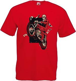 lepni.me Men's T-Shirt Motorcyclist - Motorcycle Clothing, Vintage Designs Retro Clothing