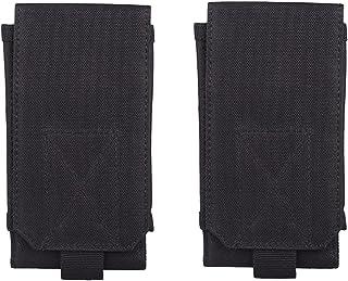 ABOOFAN 2 Pcs 6 Inch Multifunction Outdoor Universal Running Holster Waist Belt Waist Mobile Phone Case (Black)