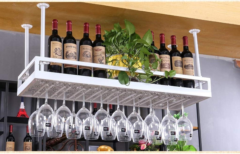 WJJ Bastidores de Vino Estantería de Vino Estantería de Vidrio para Vino Suspensión de la suspensión Copa de Vidrio Copa Porta Copa (Color   blancoo, Tamaño   80  35cm)